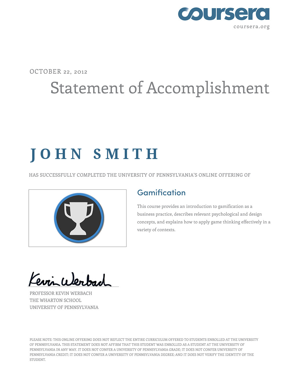 Myeducationpath john smith education passport this is my coursera certificate this is not real certificate this is just demonstration how the system works 1betcityfo Choice Image